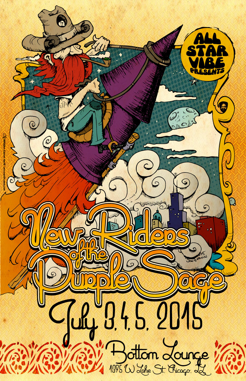 PSYCHEDELIC LAST SUPPER WITH NEW RIDERS OF THE PURPLE SAGE & SPECIAL GUESTS