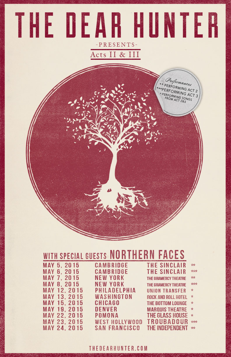 THE DEAR HUNTER PRESENTS ACTS II & III * NORTHERN FACES * AMERICAN WOLF