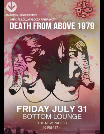 SOLD OUT! – Official Lollapalooza Aftershow featuring Death From Above 1979 with The New Pacific