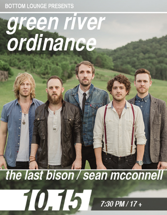 GREEN RIVER ORDINANCE * THE LAST BISON * SEAN MCCONNELL