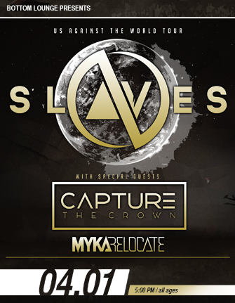 SLAVES * CAPTURE THE CROWN * MYKA, RELOCATE * OUTLINE IN COLOR * CONQUER DIVIDE
