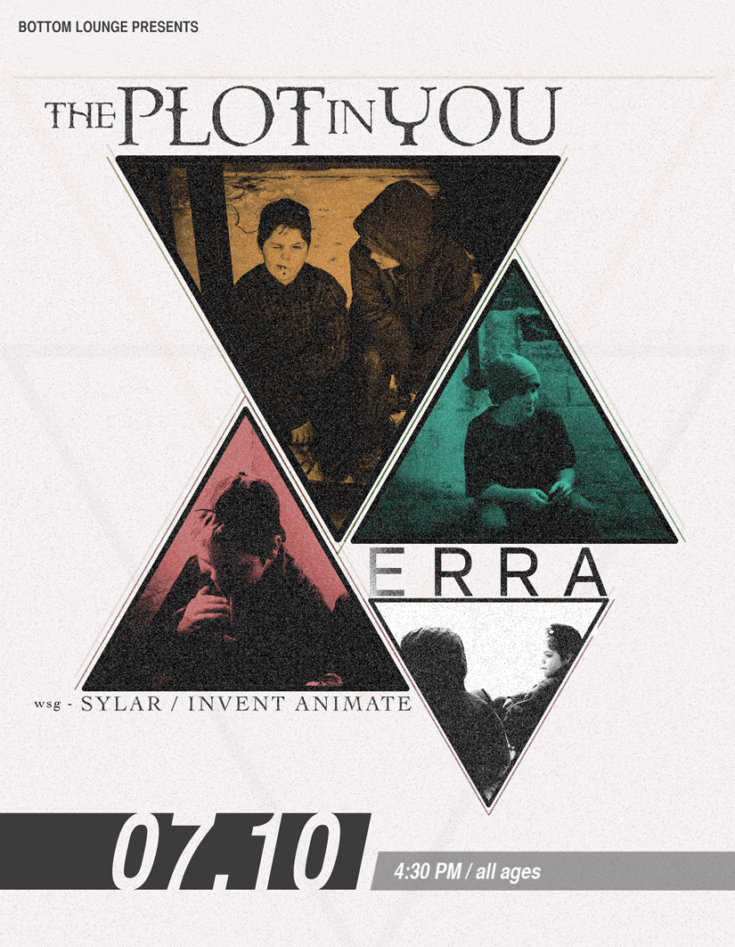 THE PLOT IN YOU * ERRA * SYLAR * INVENT, ANIMATE