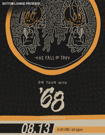 THE FALL OF TROY * '68 * ILLUSTRATIONS