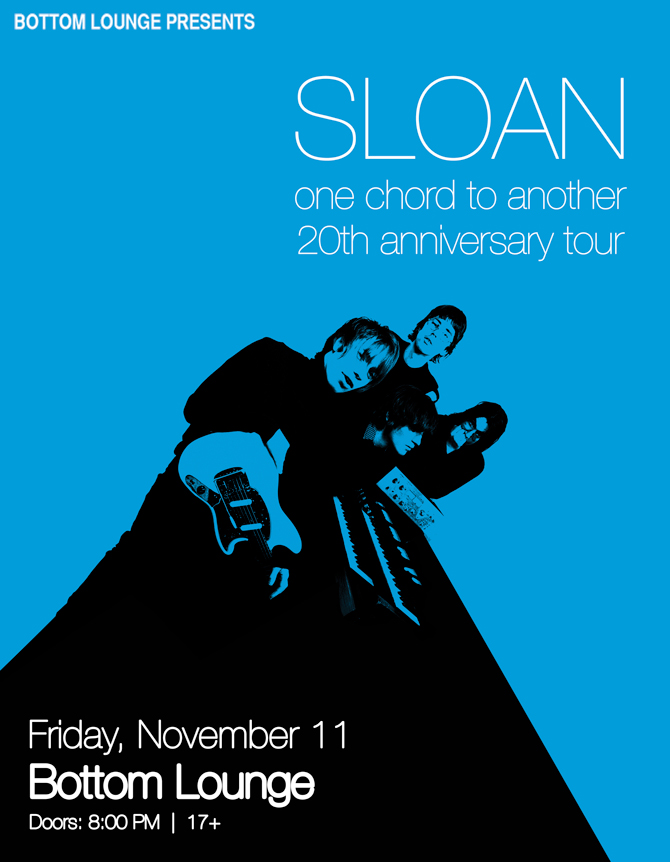 Sloan: One Chord To Another 20th Anniversary Tour
