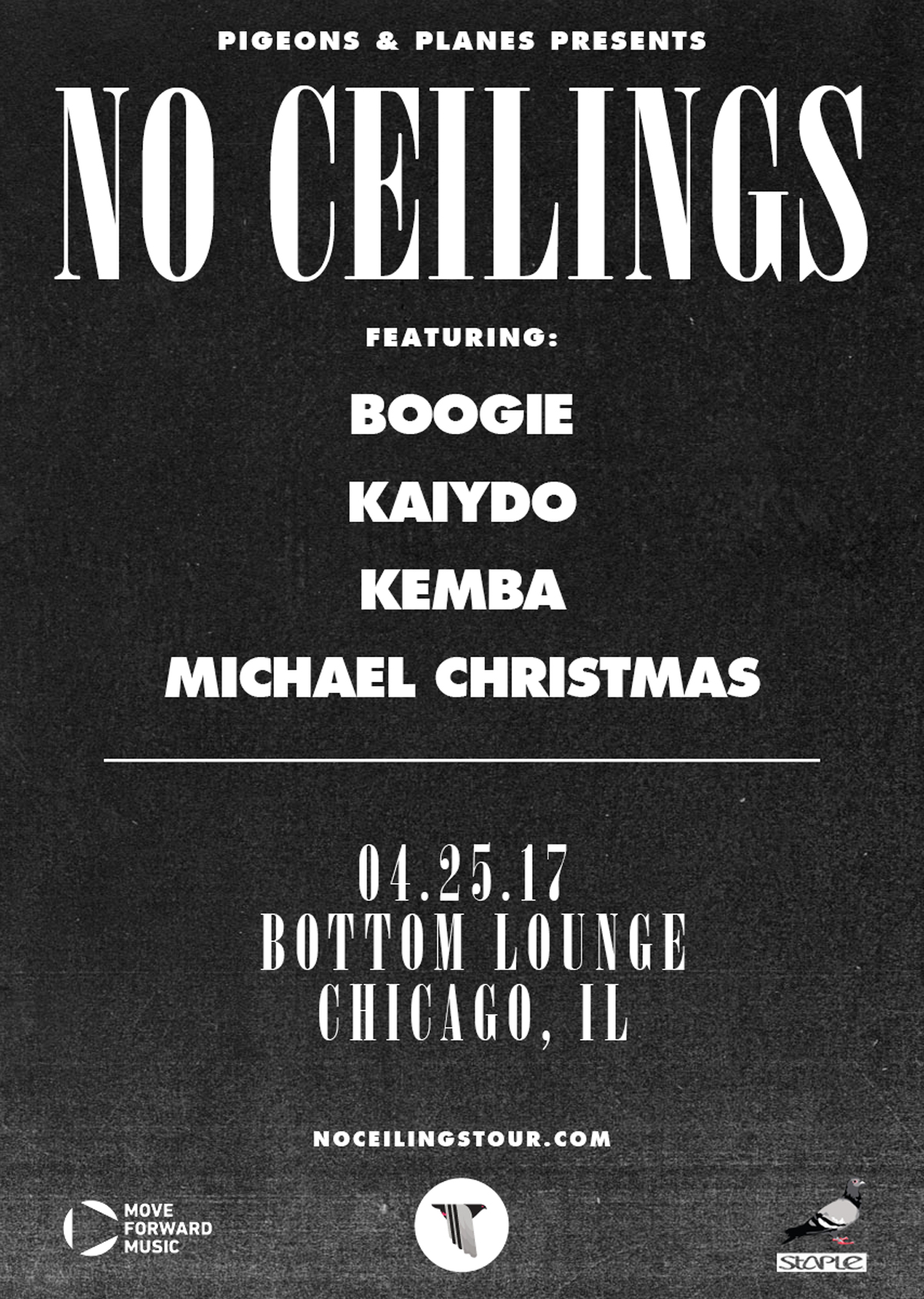 Pigeons & Planes Presents: NO CEILINGS featuring Boogie, Kaiydo, Kemba, and Michael Christmas