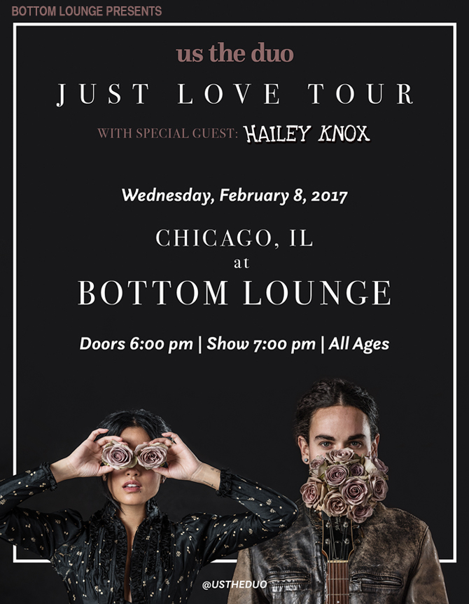 US THE DUO – JUST LOVE TOUR with HAILEY KNOX