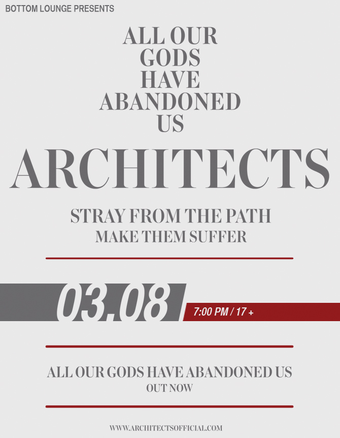 ARCHITECTS * STRAY FROM THE PATH * MAKE THEM SUFFER