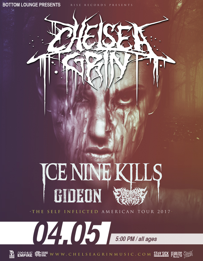 CHELSEA GRIN – Self Inflicted Tour with ICE NINE KILLS * GIDEON * ENTERPRISE EARTH