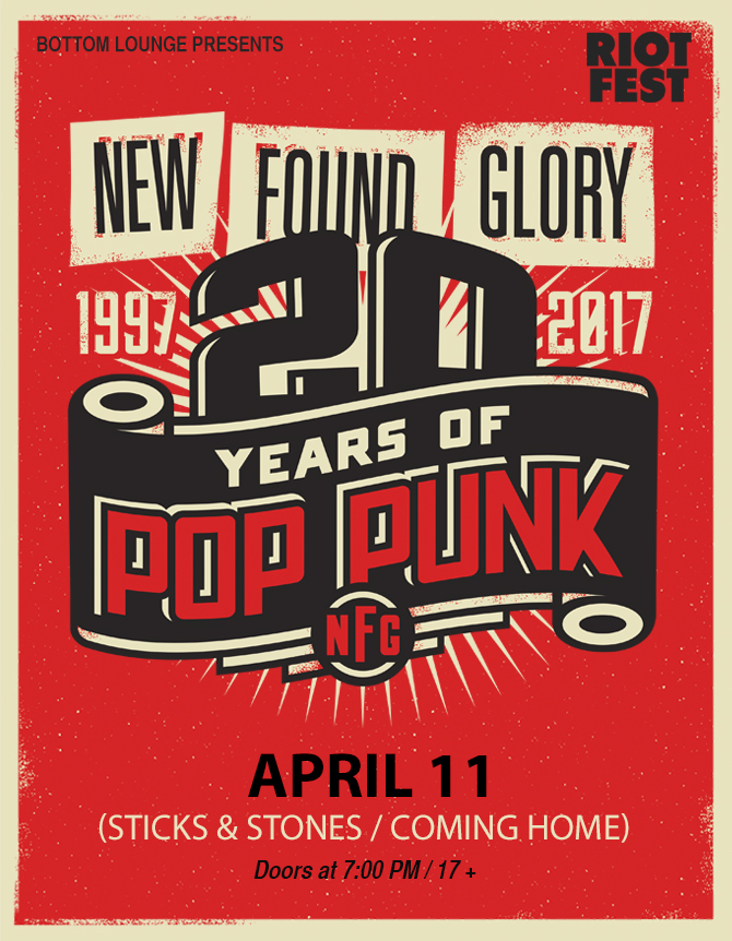 SOLD OUT! – NEW FOUND GLORY – NIGHT ONE (Sticks & Stones / Coming Home)