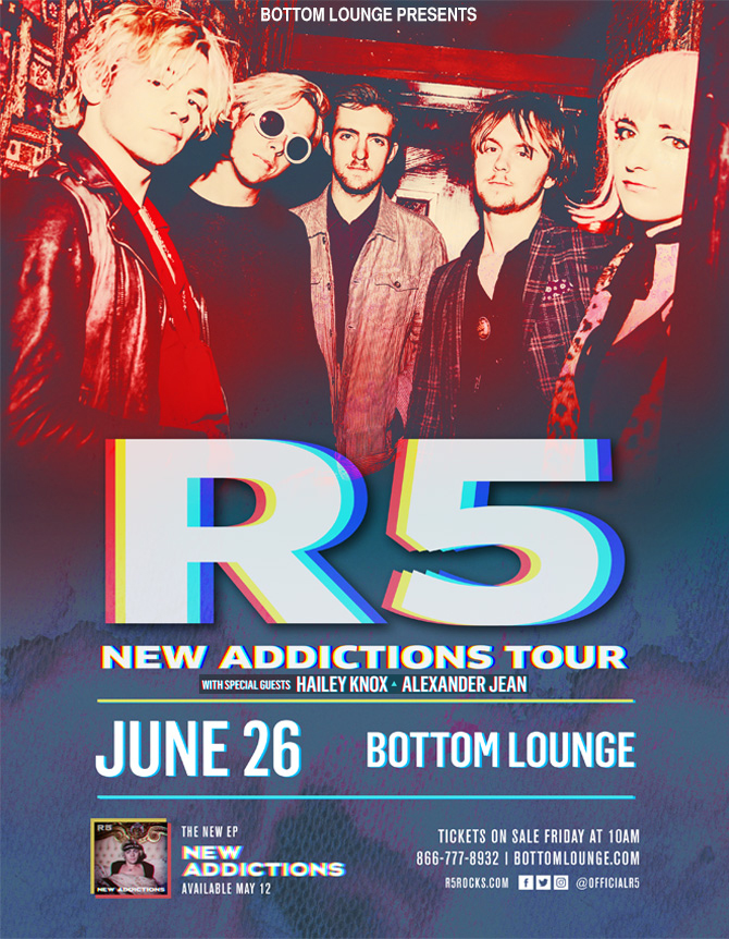 R5 – New Addictions Tour with HAILEY KNOX * ALEXANDER JEAN