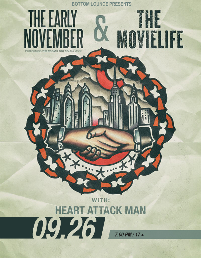 THE EARLY NOVEMBER & THE MOVIELIFE with HEART ATTACK MAN