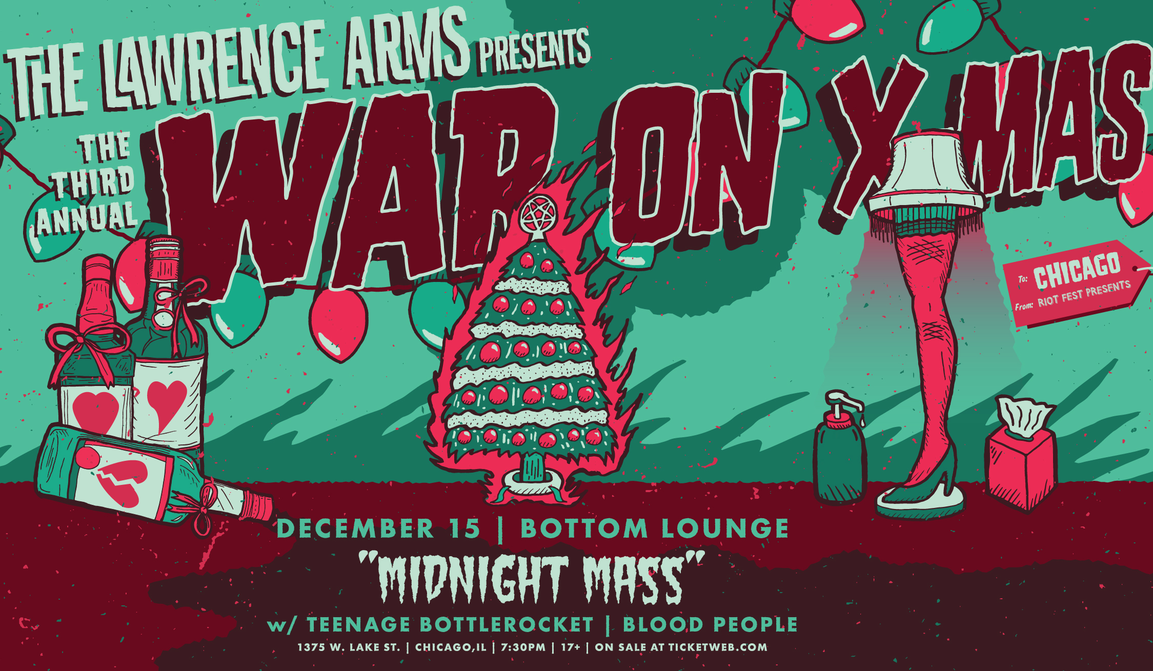 Sold out riot fest presents the lawrence arms 3rd annual war the lawrence arms hexwebz Image collections