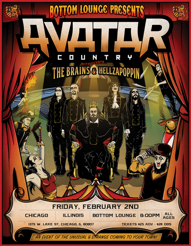 AVATAR * THE BRAINS * HELLZAPOPPIN