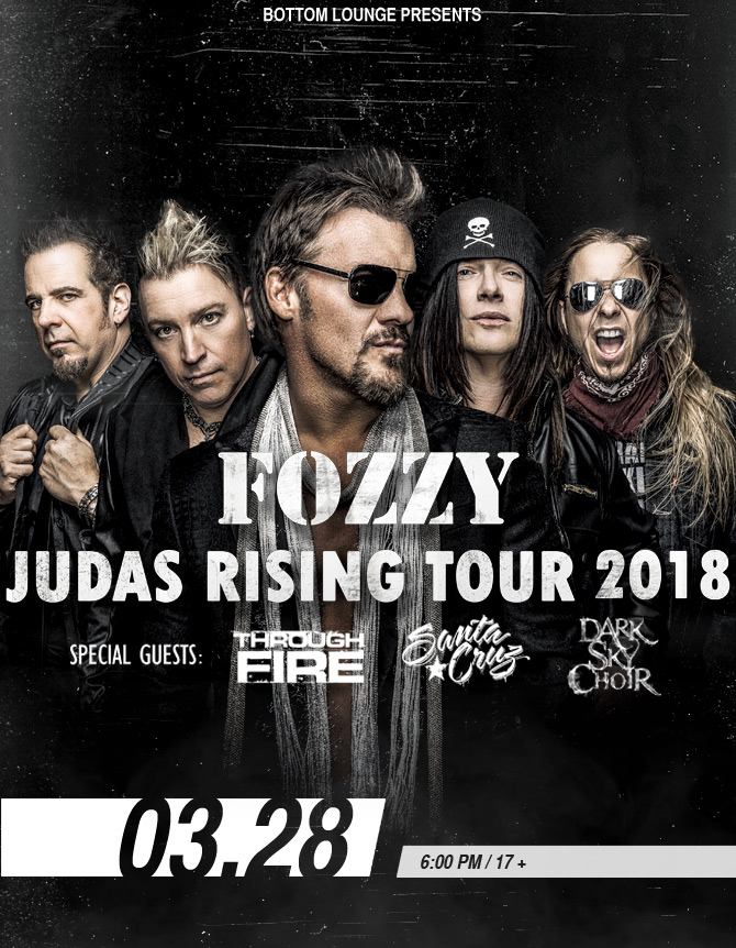 FOZZY – THE JUDAS RISING TOUR