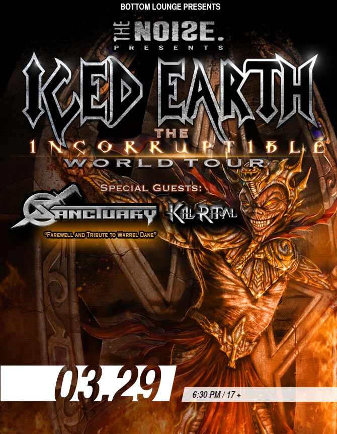 ICED EARTH – THE INCORRUPTIBLE WORLD TOUR