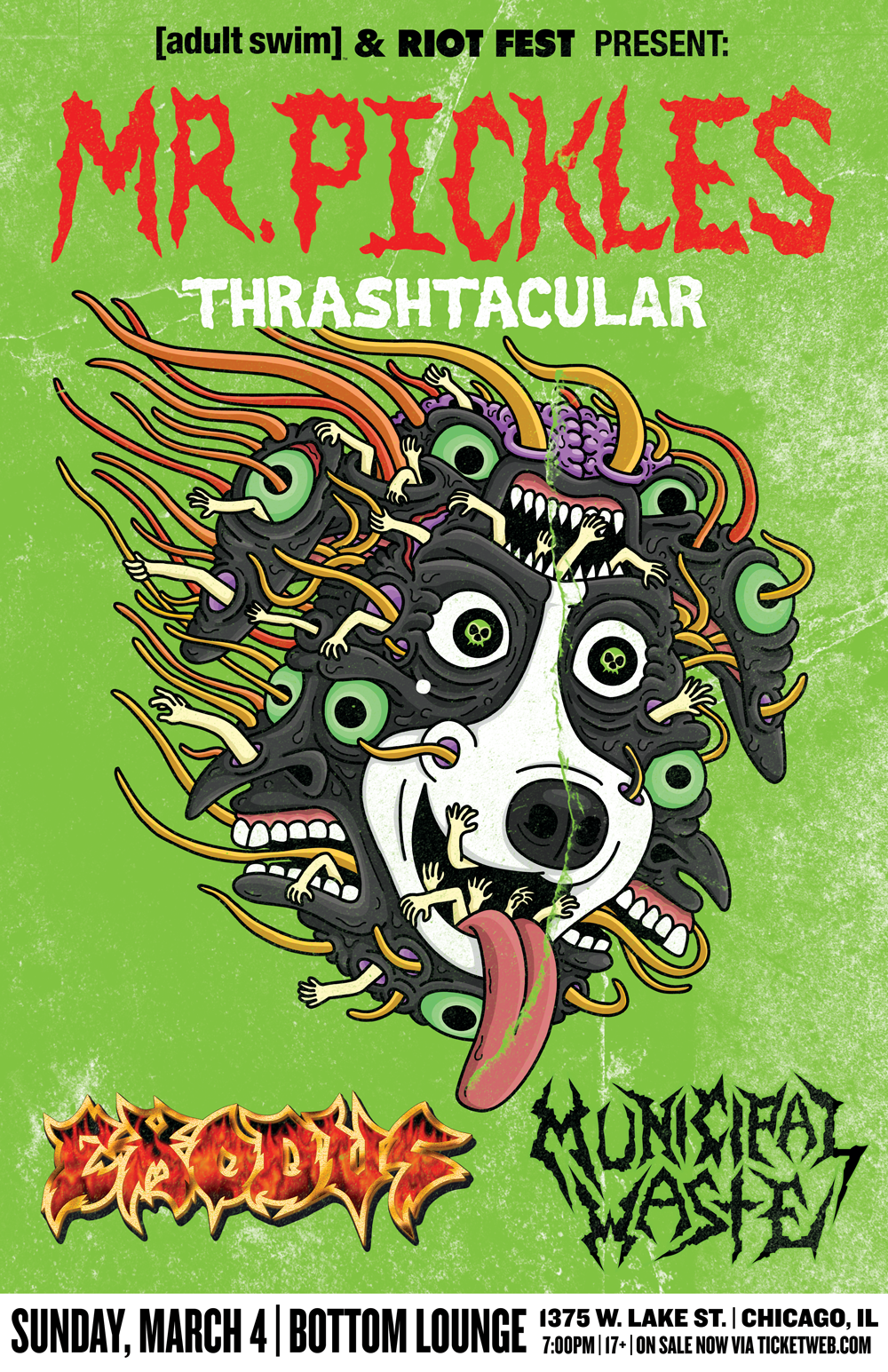 Riot Fest Presents: MR. PICKLES THRASH-TACULAR FEATURING EXODUS AND MUNICIPAL WASTE
