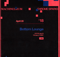 1833 Presents: CHROME SPARKS X MACHINEDRUM