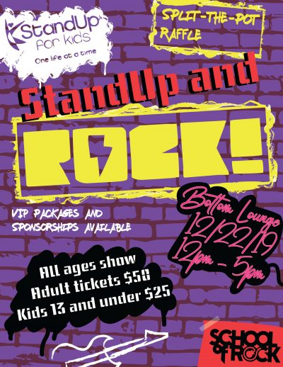 StandUp for Kids StandUp and Rock Fundraiser